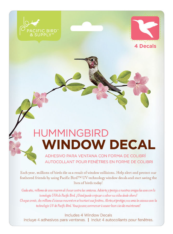 Window Decal Hummingbird PB Pacific Bird And - Invisible window decals for birds
